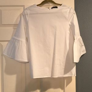 Gibson White Blouse with bell sleeves. Medium